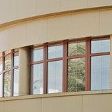 Остекление крупного полукруглого балкона