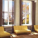 Красивые шторы на окнах ПВХ