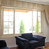 Остекление поворотно-откидными окнами