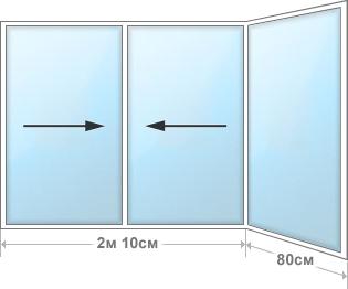 Угловой блок 1.5м×2.9м